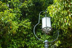 Lamp posts in the garden.Thailand. Lamp posts in the garden.Thailand Stock Photography