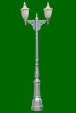 Lamp posts on graybackground. Lamp posts isolated on gray background Stock Images