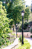 Lamp posts in park. Royalty Free Stock Images