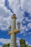 Lamp posts at Place de la Concorde in Paris Royalty Free Stock Photo