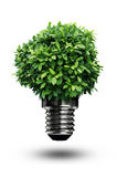 Lamp power. Green Energy in white background Stock Photos