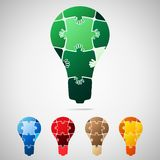 Lamp from puzzle pieces Royalty Free Stock Photography