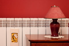 Lamp and radiator Royalty Free Stock Images