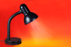 Lamp on red Stock Photography
