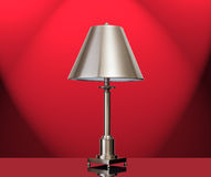 Lamp with a red background Royalty Free Stock Photos