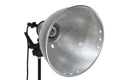 Lamp reflector on white Royalty Free Stock Photography