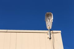 Lamp on rooftop Stock Photo
