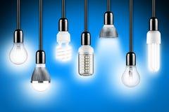 Lamp row blue Stock Image