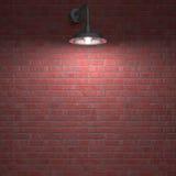 Lamp 's nachts Stock Afbeelding