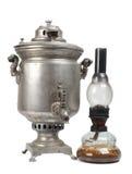 Lamp and samovar Stock Photography