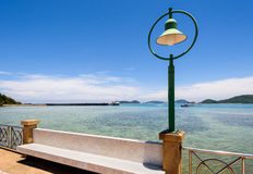 Lamp at sea viewpoint in Panwa Cape, Phuket, Thailand Stock Photography