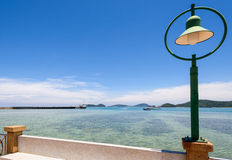 Lamp at sea viewpoint in Panwa Cape, Phuket, Thailand Royalty Free Stock Photos
