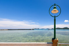Lamp at sea viewpoint in Panwa Cape, Phuket, Thailand Stock Image