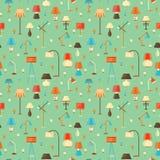 Lamp seamless pattern Stock Image