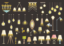 Lamp set. Stock Photo