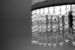 Lamp shade. Old lamp shade with crystals Stock Photo