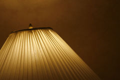 Lamp shade. A close up frame of a Standing lamp Royalty Free Stock Images