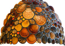 Lamp shade decorated with shells Stock Photo