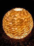 Lamp shade from sea bowls. royalty free stock images
