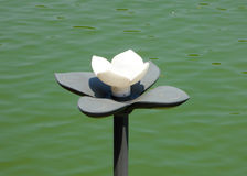 Lamp shaped like a lotus flower Royalty Free Stock Images