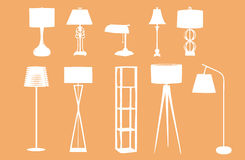 Lamp Silhouettes Royalty Free Stock Photography