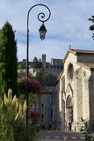 Lamp in Sisteron town Royalty Free Stock Images