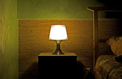 Lamp in a sleeping room Royalty Free Stock Photos