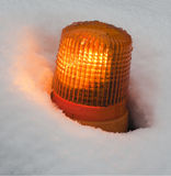 Lamp in the snow Royalty Free Stock Photos