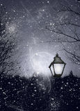 Lamp in snow Stock Photography