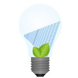Lamp and solar battery Royalty Free Stock Images