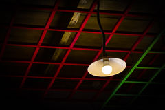Lamp with a square background Royalty Free Stock Image