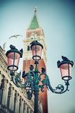 Lamp on St. Mark's Square, Venice, Italy Royalty Free Stock Images