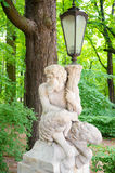 Lamp statue Stock Photography
