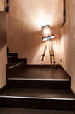 The lamp is between steps Royalty Free Stock Photography