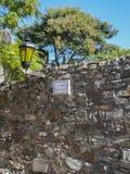 Lamp Stone Wall Colonia del Sacramento Royalty Free Stock Image