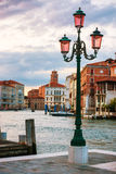 Lamp on the streen at Grand Canal, Venice Royalty Free Stock Photo
