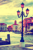 Lamp on the streen at Grand Canal, Venice Stock Photography