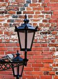 Lamp-street in the old city Royalty Free Stock Images