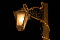 lamp street wooden 库存照片