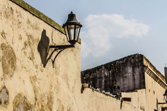 Lamp. In the streets of the historical parts of Santa Marta, Colombia Stock Images