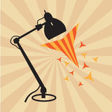 Lamp with sunshine background. Lamp, lamp with sunshine background stock photo