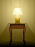 Lamp on a table Royalty Free Stock Images