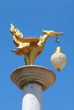 Lamp in thai art. The lamp in mouth of bird.They have design from thai art pattern Royalty Free Stock Images