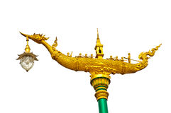 Lamp in Thai traditional boat Royalty Free Stock Image