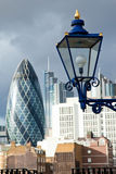 Lamp of the Tower and City of London Stock Images