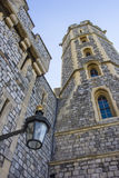 Lamp and tower detail at Windsor Castle in England Royalty Free Stock Image