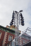 Lamp tower for event in Venlo, Holland Stock Image