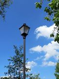 Beautiful lamp in blue sky background, Lithuania Royalty Free Stock Photo