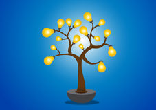 Lamp of tree. Illustration background Stock Photography