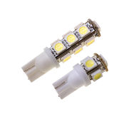 Lamp twee voor auto met 5 en 13 SMD LEDs Royalty-vrije Stock Fotografie
